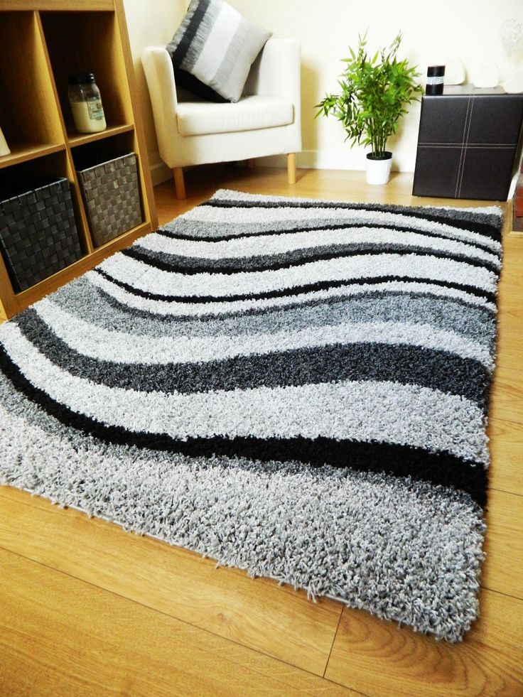 Place an anti-slip mat under this rug to help keep it in place on a laminate or wooden floor and retain the carpets shape. Excellent quality and durability make this shaggy rug a fantastic choice to help complement your floor. | eBay!