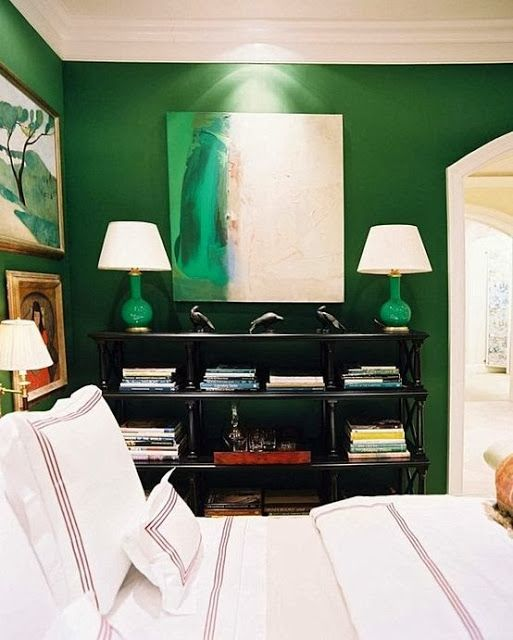 My Top 8 Favorite Emerald Green Paint Colors - Perfect Paints Portfolio. Amazing Emerald Green Bedroom by Miles Redd