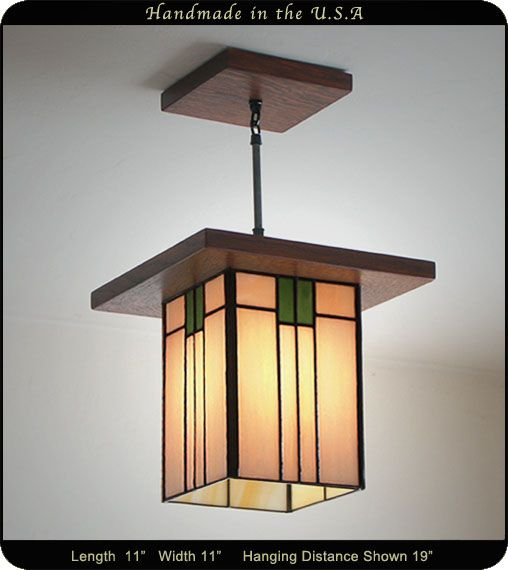 The Mission Lantern Prairie Style #657 is part of the handcrafted Craftsman style lantern series and ideal for use in a variety of settings. The fixture are top quality, available in a variety of colors, and add a touch of elegance to your interior décor. As with other varieties of lanterns in this line, the haging lamp is also available in caramel cream and whispering white glass shades and other colors can be ordered if you want it customized to your specifications.