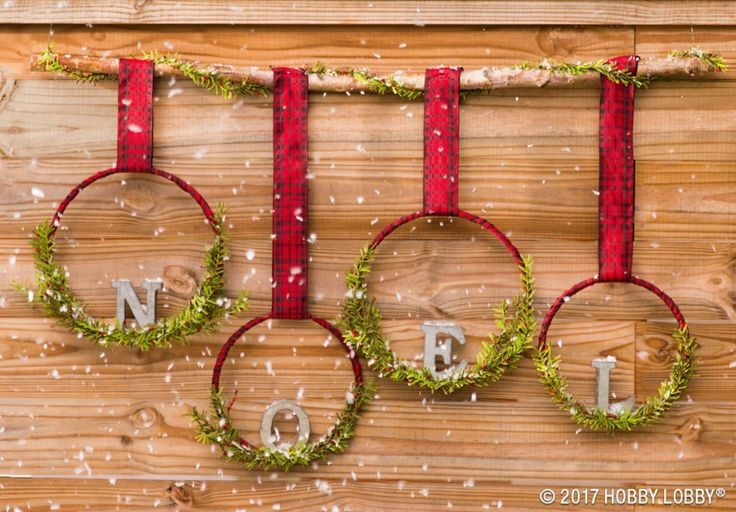 This hung-with-care Christmas craft gets its cheer from festive ribbon, embroidery hoops and holiday greenery!