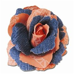 Coldwater Creek Denim Flower Pin is just what you need to dress up an outfit