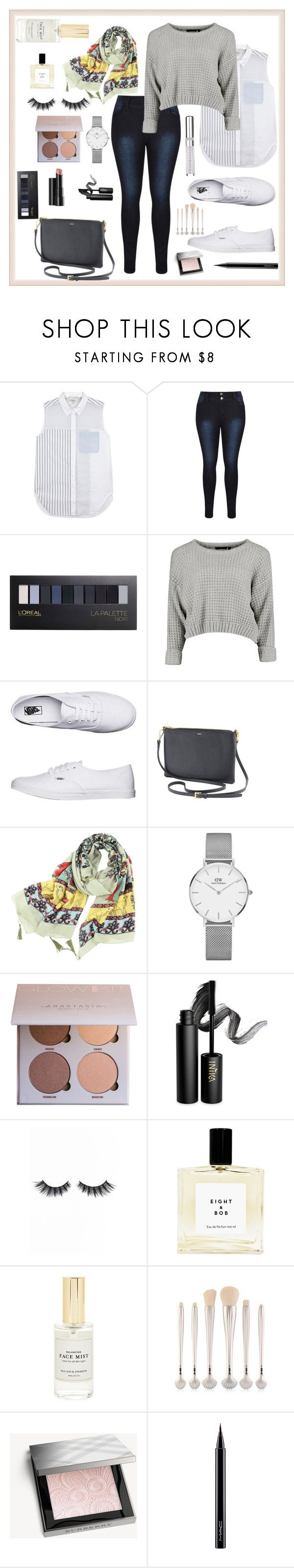 """""""Untitled #18"""" by sarahaaaaa ❤ liked on Polyvore featuring 3.1 Phillip Lim, L'Oréal Paris, Vans, Daniel Wellington, INIKA, Arbonne, Violet Voss, Mullein & Sparrow, Burberry and MAC Cosmetics"""