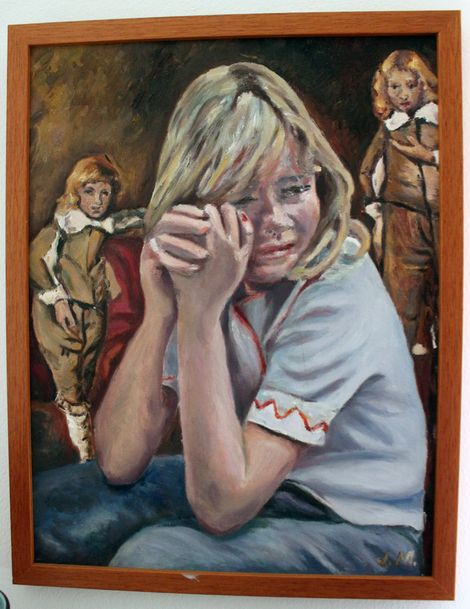 Jo Mulholland (Ozcloggie), Donna and the Rembrandt Boys on ArtStack #jo-mulholland-ozcloggie #art