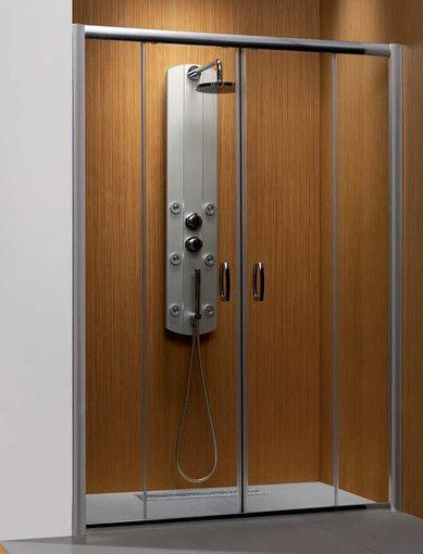 Premium Plus DWD 1600 Radaway drzwi wnękowe dwuczęściowe 1572-1615x1900 chrom szkło przejrzyste - 33363-01-01N  http://www.hansloren.pl/Kabiny-prysznicowe/Drzwi-szklane-do-wneki/RADAWAY