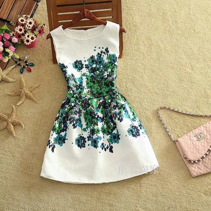 Mode zomer 2015 nieuwe desigual mode sexy europese stijl vlinder print jurken zomerjurk vestidos casual dress in van jurken op AliExpress.com   Alibaba Groep