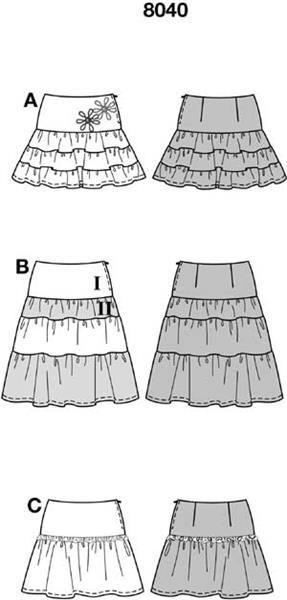 Детская юбка с рюшами выкройки