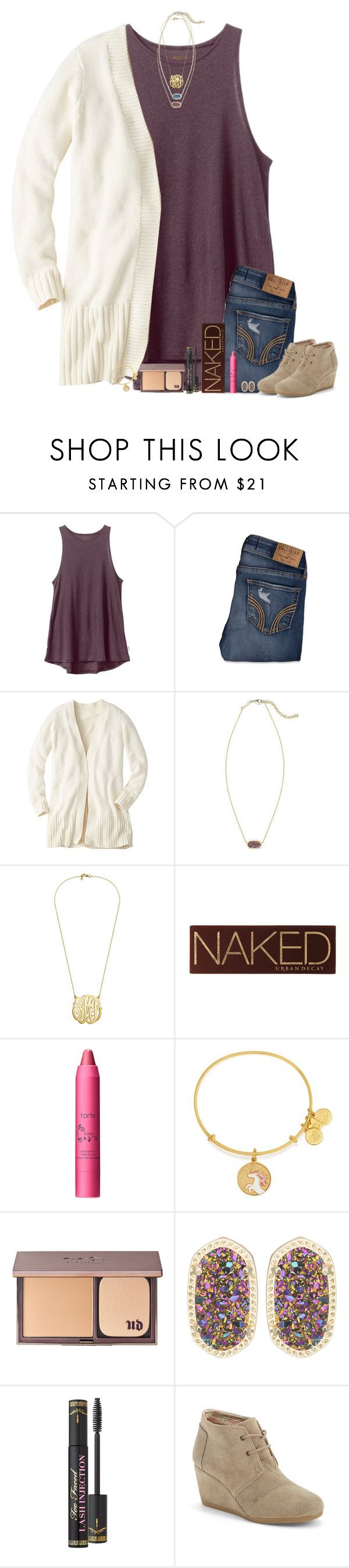 """""""•I promise someone will give you all you want, will give you all you need•"""" by bloom17 ❤ liked on Polyvore featuring RVCA, Hollister Co., Kendra Scott, Urban Decay, tarte, Alex and Ani, Too Faced Cosmetics, TOMS, women's clothing and women"""