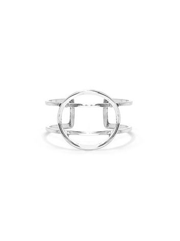 Wear this hoop ring at once with your other favourite Monocrafft soldiers. A statement piece we love this worn on the pinky finger. With a hand made aesthetic this sterling silver beauty is a must!  Available in sterling silver 925.  Height 1.2cm
