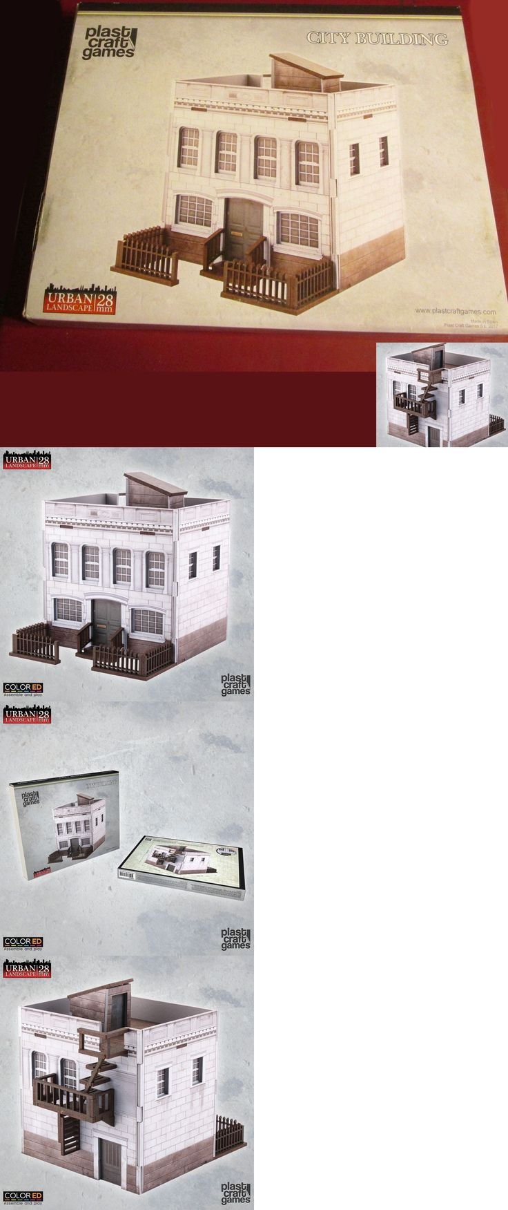 28mm 158730: Plast Craft Games Ur005 Colored 28Mm Urban Landscape City Building Townhouse Nib -> BUY IT NOW ONLY: $32.5 on eBay!