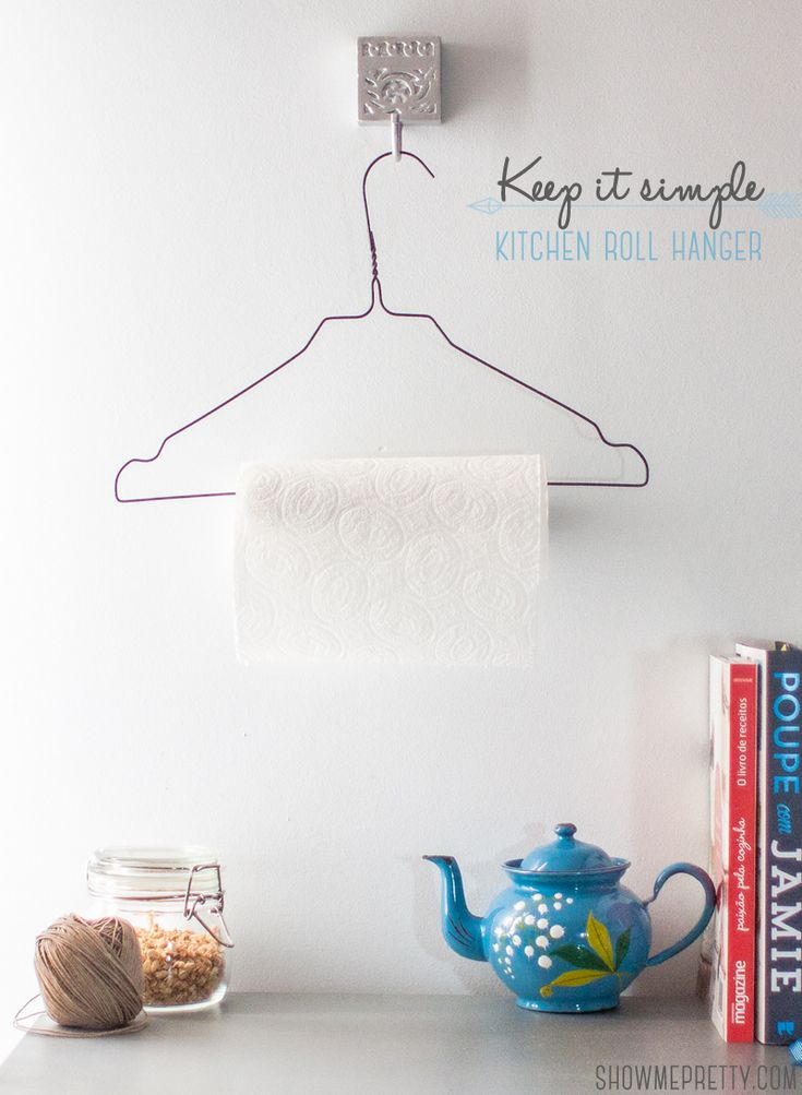 Show me Pretty | DIY Home / kitchen roll holder | http://www.showmepretty.com