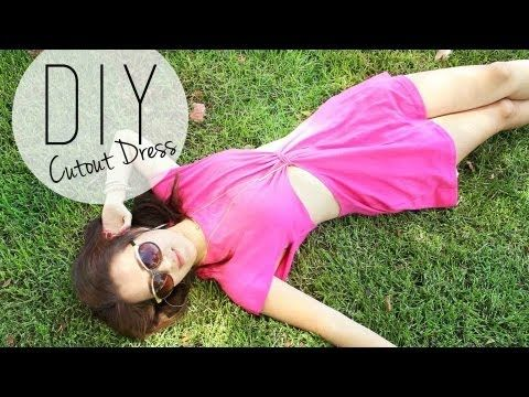 ▶ DIY Fashion: Summertime Cutout Dress / Beach Coverup {How to} - YouTube