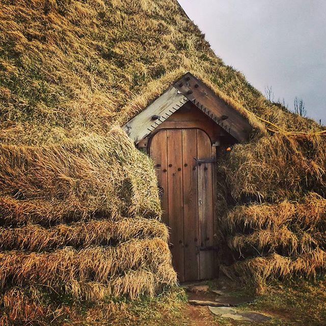 Elfin entrance. #iceland #folktales #hiddenpeople #sodhouse #goldencircletour @icelandwriters
