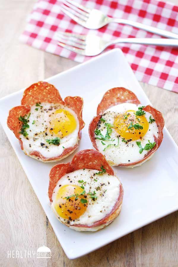 Salami Breakfast Cups