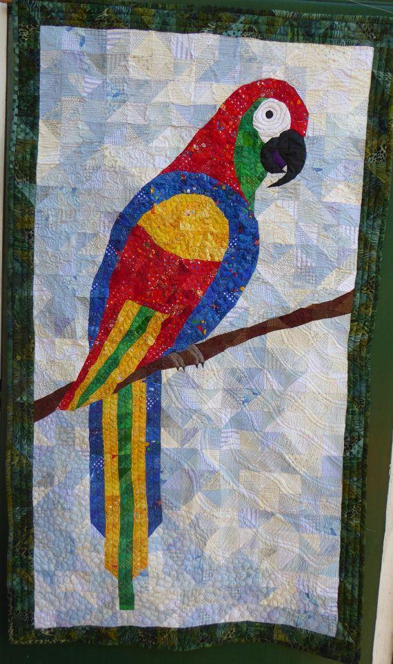Parrot by HandMadeQuiltsbyJane on Etsy