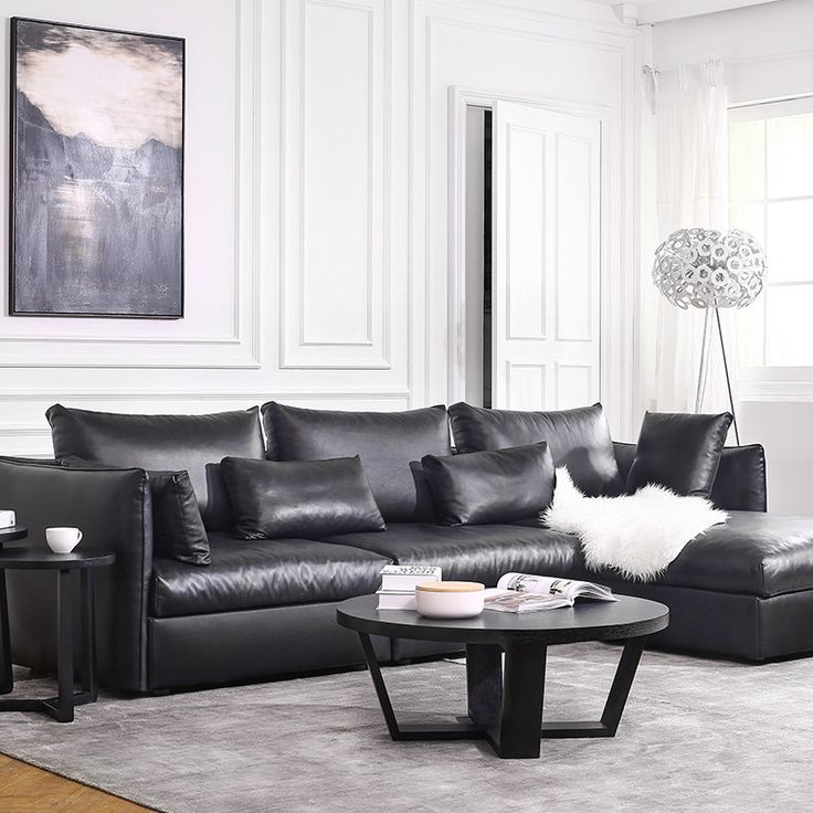 Hot Sale Modern Leather Sofa Set Living Room Sectional Italian Design Genuine Modernes LedersofaLedercouchgarniturWohnzimmer