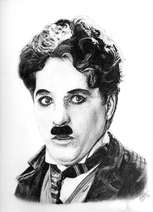 Pencil Portrait Mastery - ARitz - Dessinatrice au Fusain, Pastel sec, Pierre noire et Crayon Gomme - Charlie Chaplin - Discover The Secrets Of Drawing Realistic Pencil Portraits