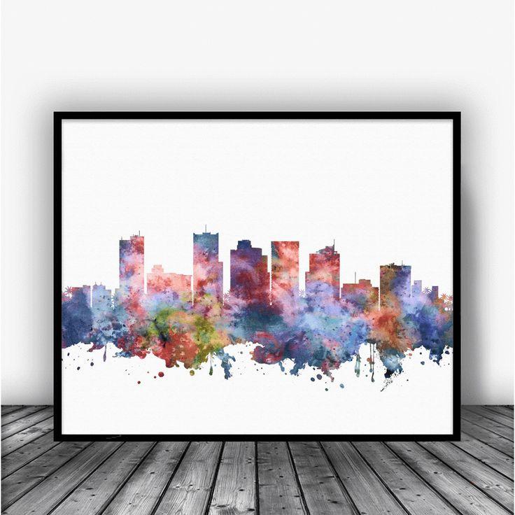 Phoenix Skyline Art Print Poster by Carma Zoe From $10.00