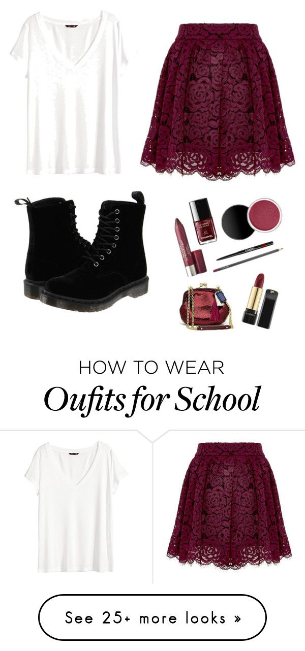 """Christmas school outfit"" by danceloverrr on Polyvore featuring Alice + Olivia, H&M and Dr. Martens"