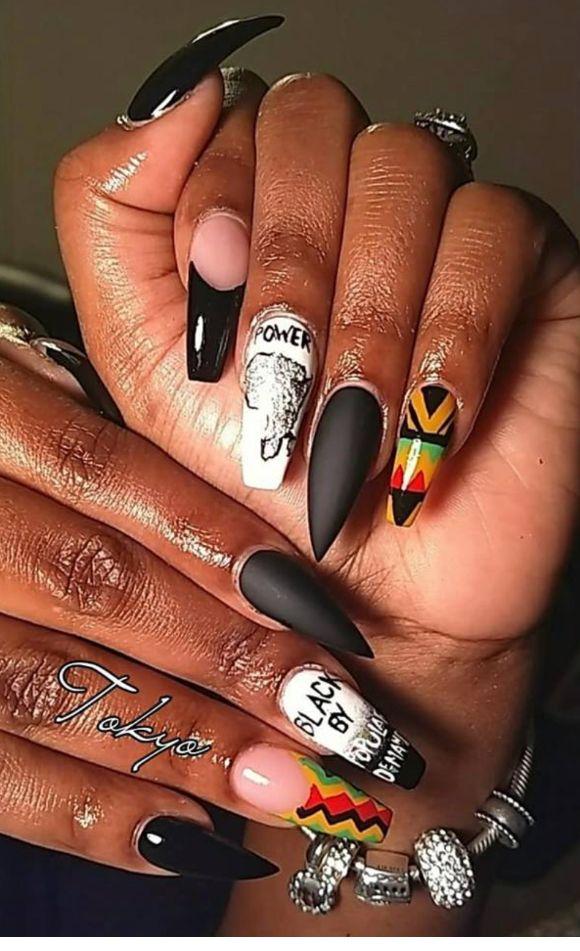 Rasta Nails Design : rasta, nails, design, CODENAMECHANEL, Rasta, Nails,, Tribal, Ballerina, Nails, Designs