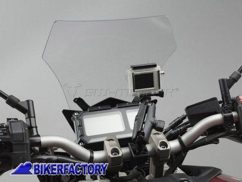 Kit universale SW Motech per GoPRo Hero aggancio a manubrio e specchietto moto art. CPA.00.424.12500/B