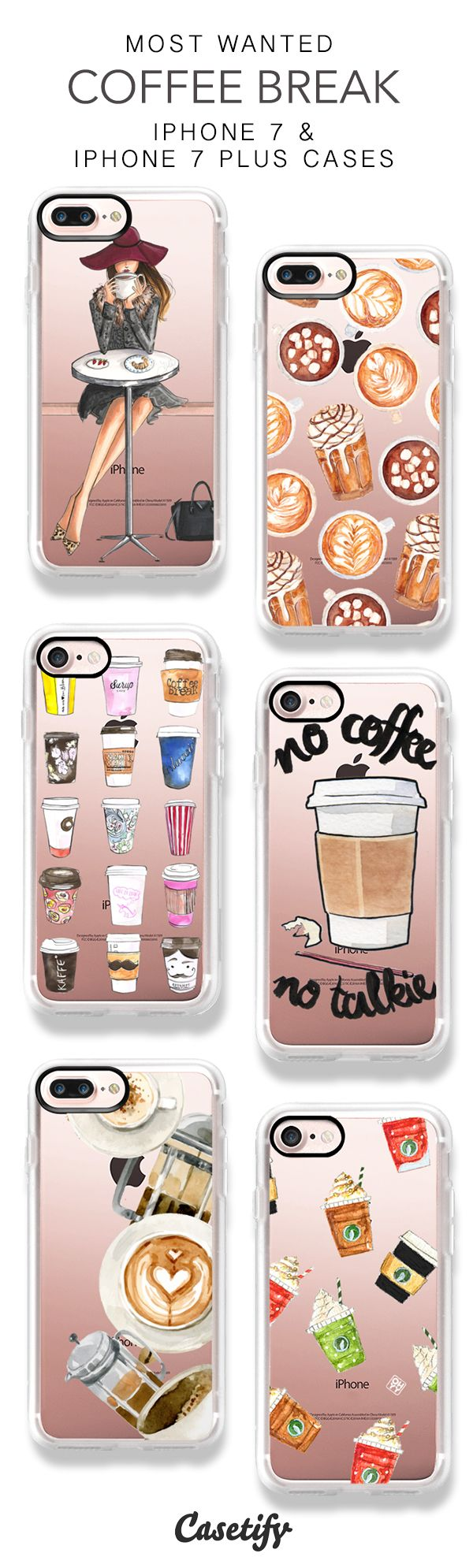 15 Most Popular Coffee iPhone 7 Cases and iPhone 7 Plus Cases. More pattern iPhone case here > https://www.casetify.com/collections/top_100_designs#/?vc=WeN6zv0D1E