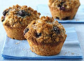 Whole Wheat-Blueberry Muffins from Tablespoon (http://punchfork.com/recipe/Whole-Wheat-Blueberry-Muffins-Tablespoon)