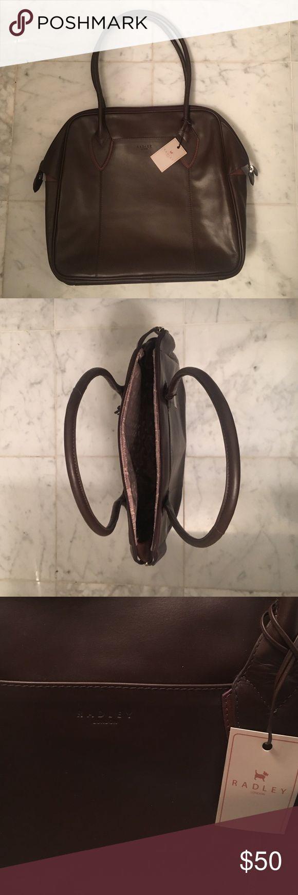 Never been used Radley handbag Dark brown Radley London Handbag. Tons of Space and 3 pockets! Radley London Bags Shoulder Bags