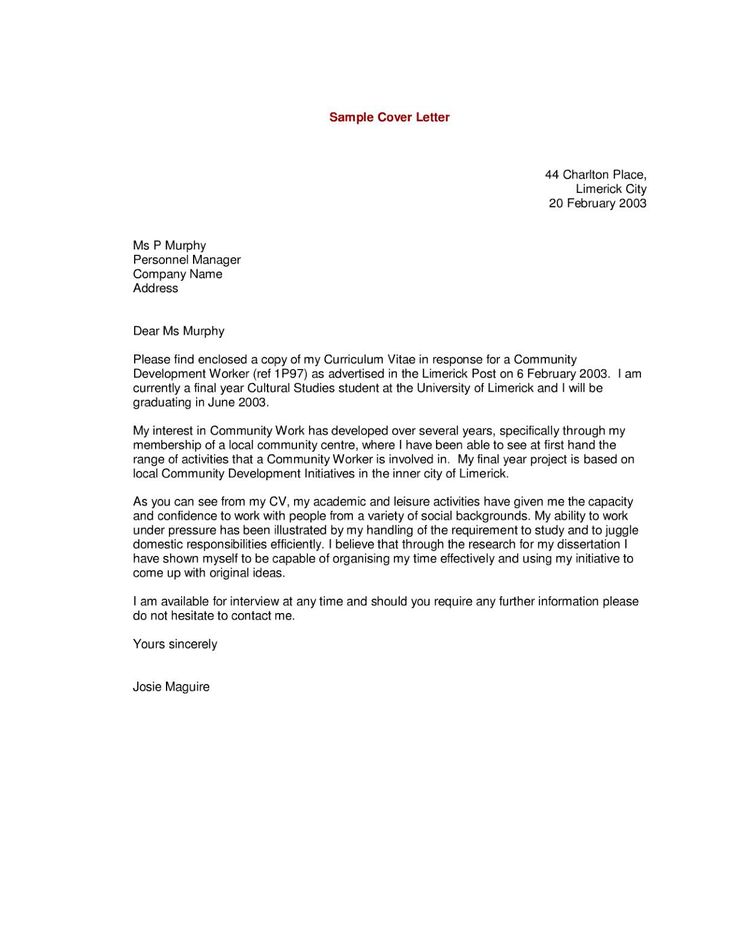 Letter Example. Simple Job Cover Letter Examples Resume Builderhow