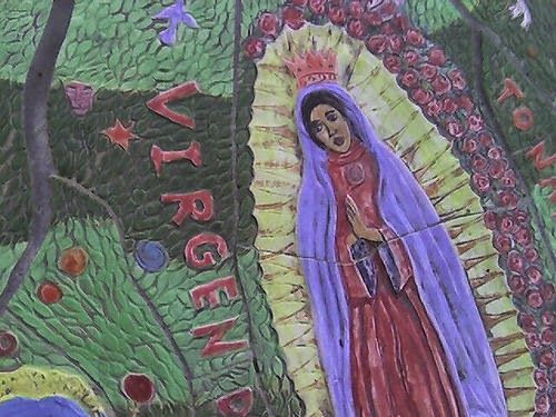 Livermore Public Library Mosaic Misspellings - Virgen (Virgin)