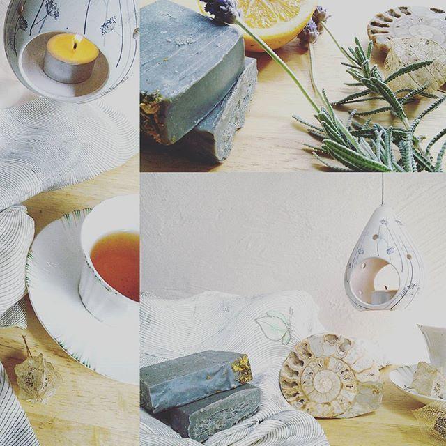Dead Sea Mineral Mud soap handmade by Viola Napoli of Soap by Nature. Glebe Markets.