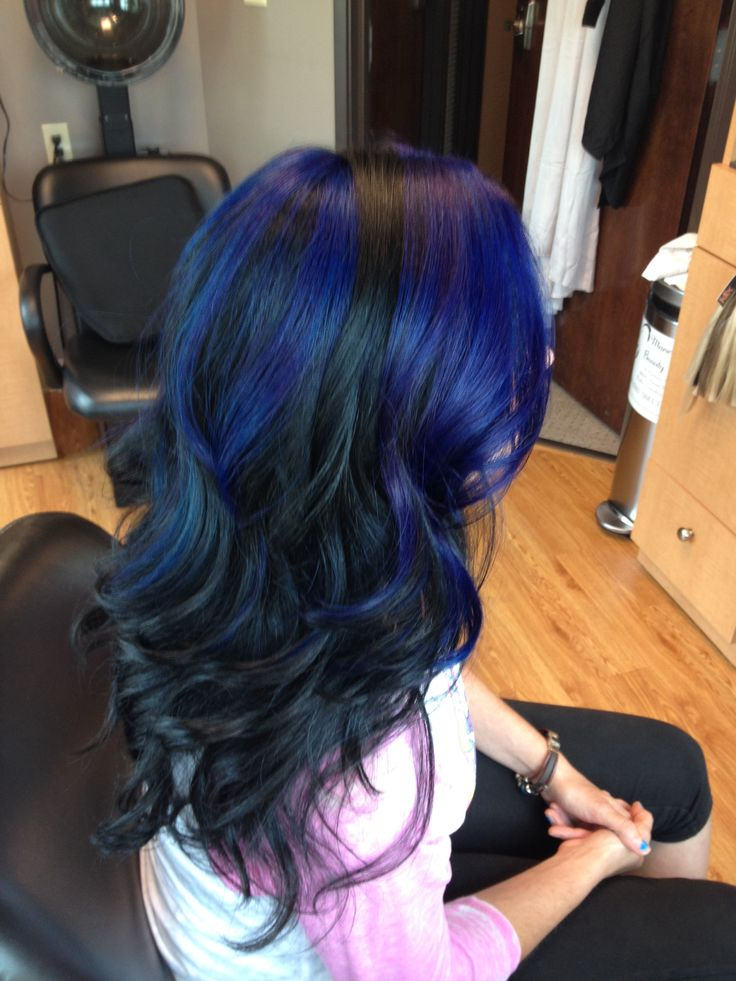 Black hair and blue highlights hairstyles best black hair 2017 best 25 blue hair highlights ideas on pmusecretfo Choice Image