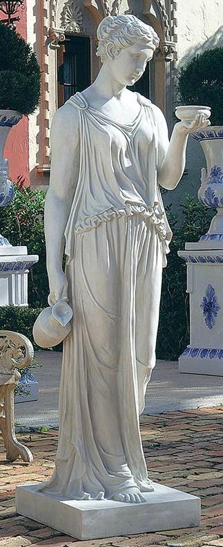 """Design Toscano 32"""" Replica Hebe The Goddess Of Youth Sculpture By Thorwaldsen"""