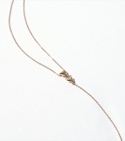 Long Triangles Pendant Necklace