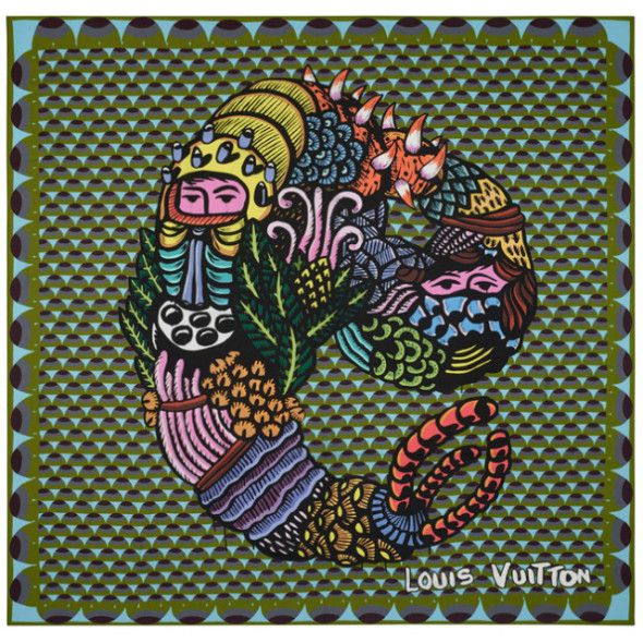 LOUIS VUITTON STREET ARTIST SCARF COLLAB,