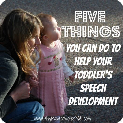 Excellent info on helping toddlers' speech development