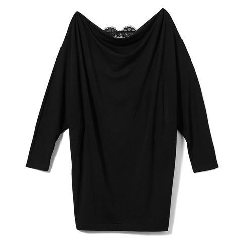 Black Wide Neck Pullover #AkikoOgawa. #Lingerie #2016AW #CASHMERE&COMFORT www.aolingerie.com