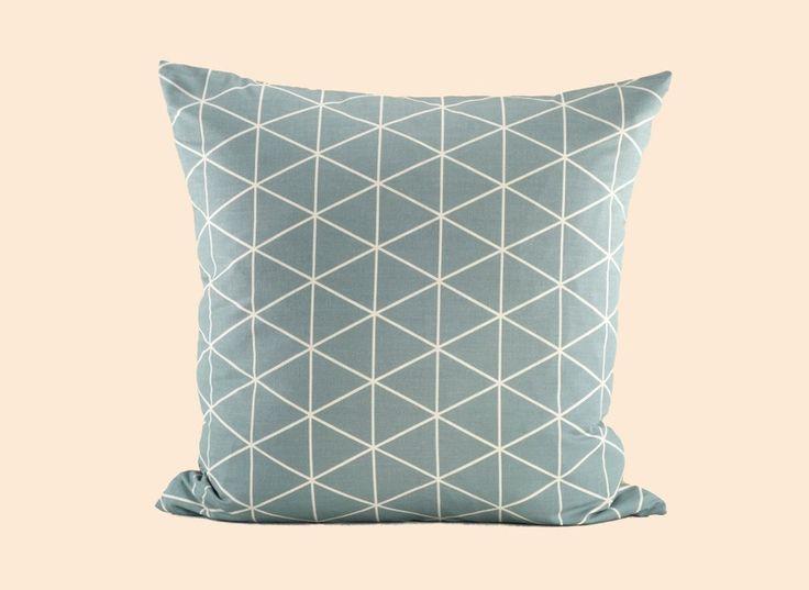 ANJU Geometrisches Kissen Grau 50x50 Von Design Auf DaWanda