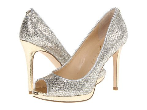 Ivanka Trump Maggie heels in gold and silver. Mixing metals like this  eliminates the