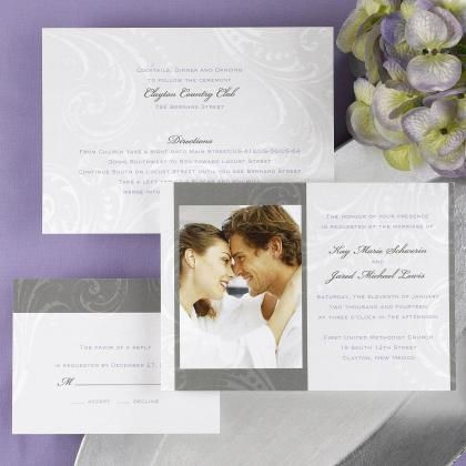 Picture Wedding Invitations | Picture Invitations - prety photo wedding…