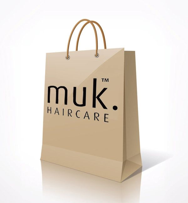 muk. Haircare Paper Shopping Bag.