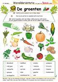 diverse werkbladen over groente en fruit