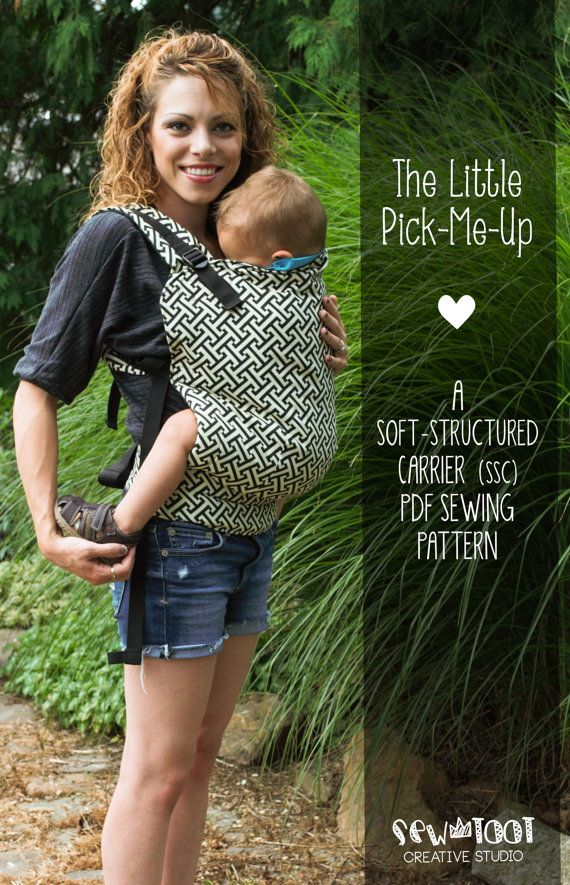 "This pattern includes a tie-off hood with functional reach straps, has multiple straps adjustment points, includes 3 sizes (infant, tweeny tot, and toddler), leg padding, and when worn properly, positions baby into an ergonomically correct seated ""M"" position DIY Baby Carrier Pattern SSC Soft Structured Carrier PDF by SewToot, $12.00"