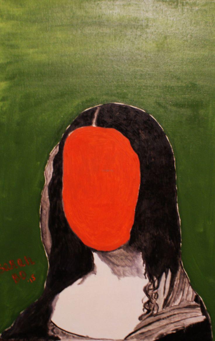 Сара Бо. Мона Лиза - без Джоконды, 2015   Холст, масло, 90 х 60 см, без багета   Портрет, сюрреализм