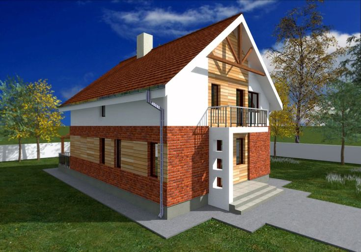 Case mixte din caramida si lemn