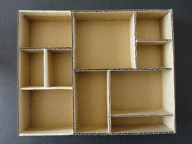 diy cardboard boxes shelves / shadowboxes - Google Search