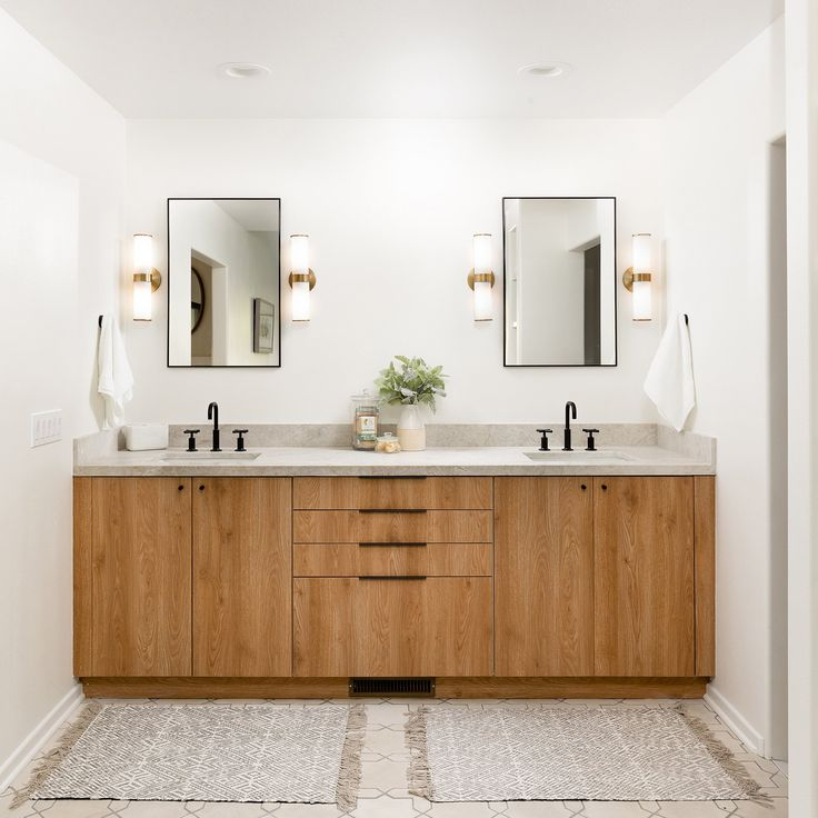 Can I Use Kitchen Cabinets In The Bathroom: A Modern California Ranch House Using Impression Tahoe In