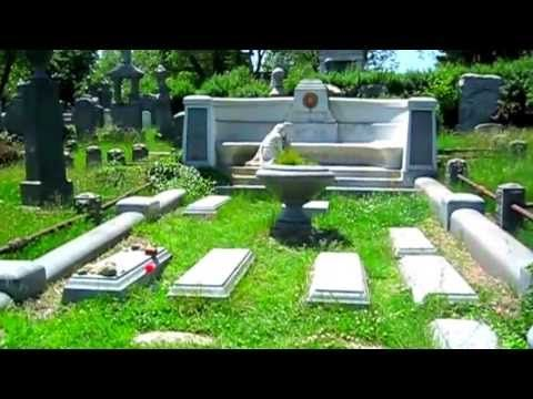 Houdini's Grave - in a spooky, neglected cemetery - YouTube