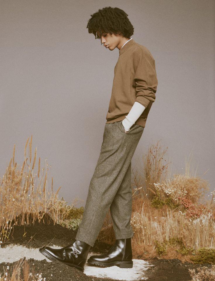 Luka Sabbat Model 2015 SSENSE Photo Shoot 005 Luka Sabbat Rocks Tailored Menswear for SSENSE Editorial