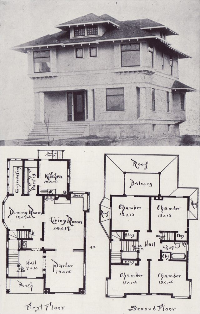 Craftsman House Design Features: VinTagE HOUSE PlanS~1900s: A Collection Of Other Ideas To