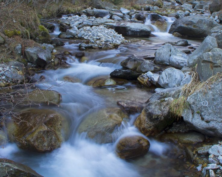 River silk - Silk effect in the Ter river, near his birthplace in the Vallter valley, Setcases, Girona.